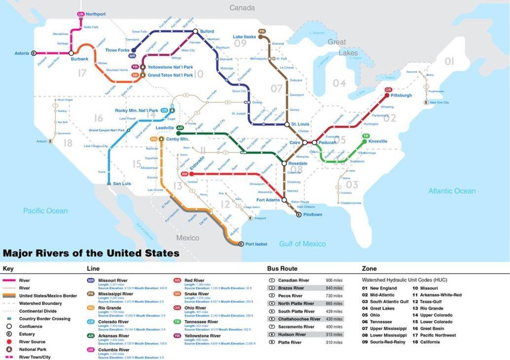 Pozrite Si Mapu Riek Aku Ste Este Nevideli Lepsia Geografia