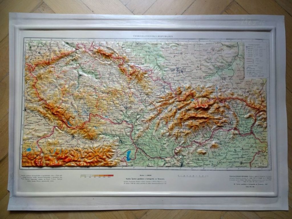 Ako som našiel plastickú mapu Československa