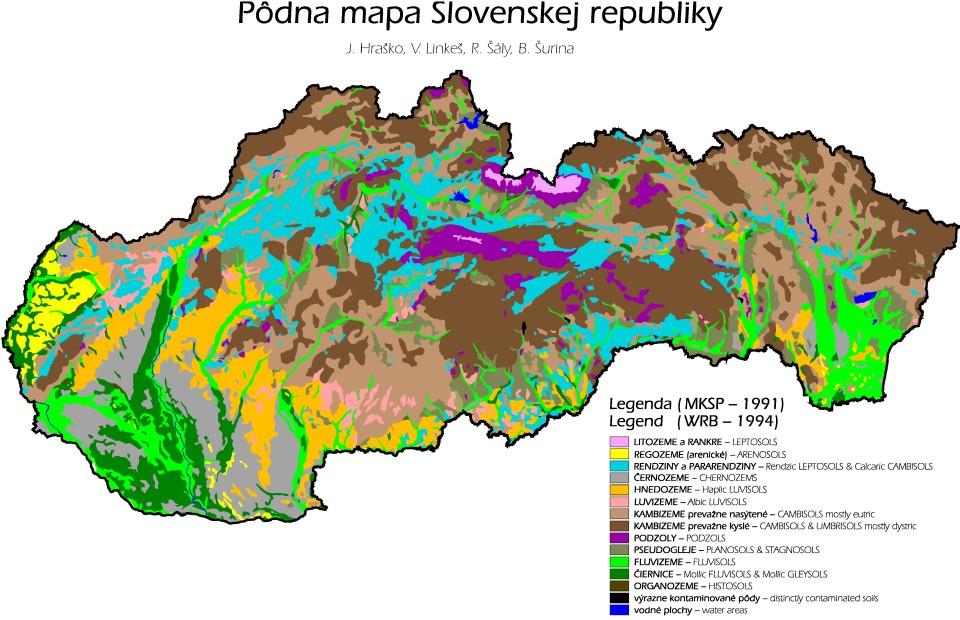 Pôdne mapy Slovenska