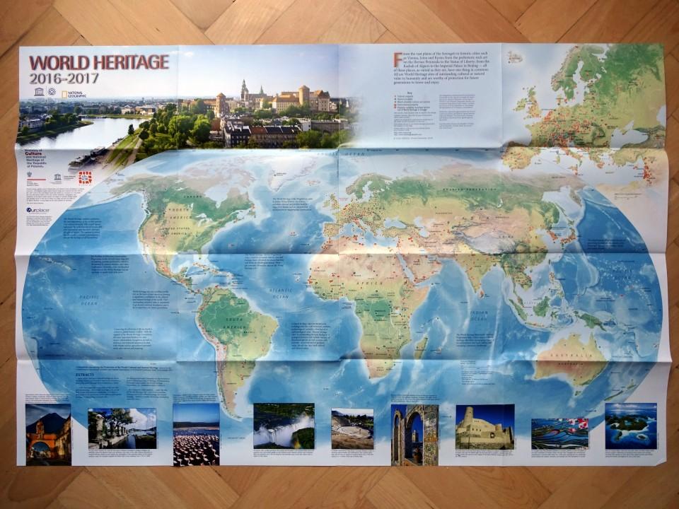 Mapa pamiatok UNESCO, ktorú si môžete zavesiť nastenu
