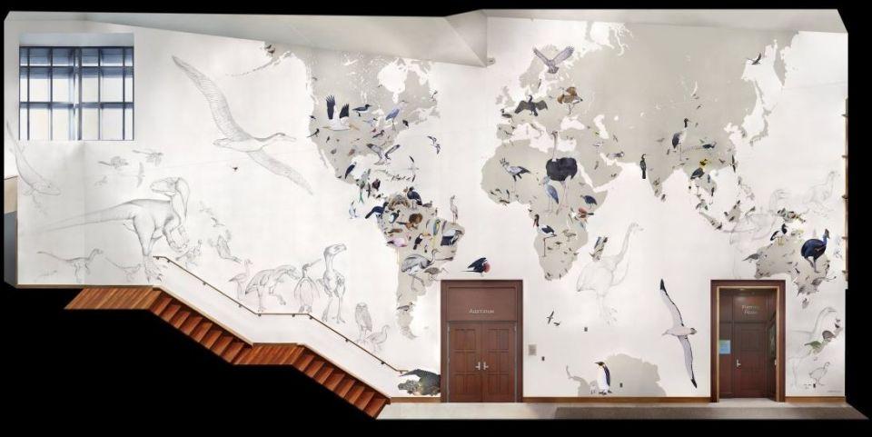 Mapa vtákov akoumelecké dielo