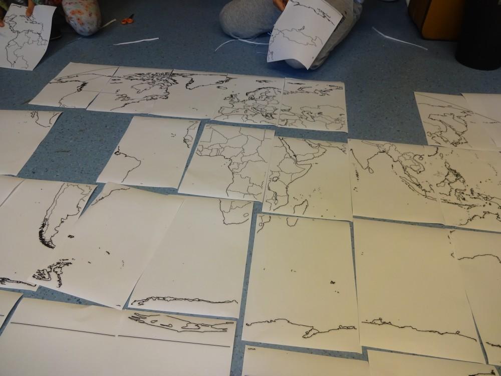 veľká mapa ako puzzle