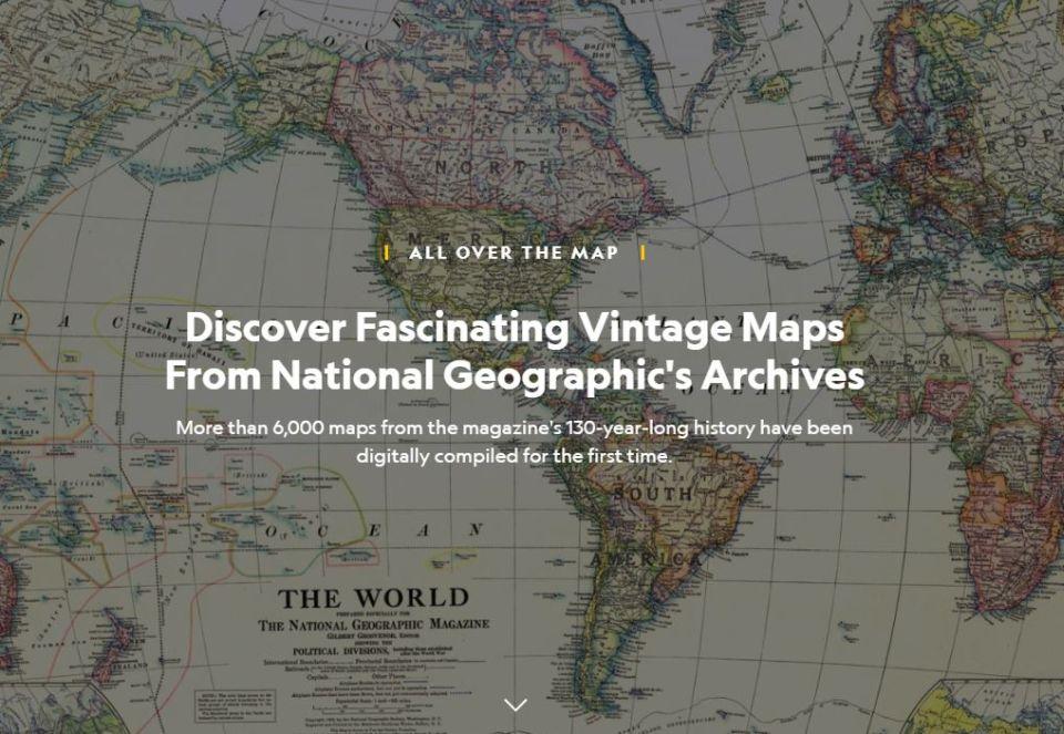 Objavte fascinujúci svet máp vdigitálnom archíve National Geographic