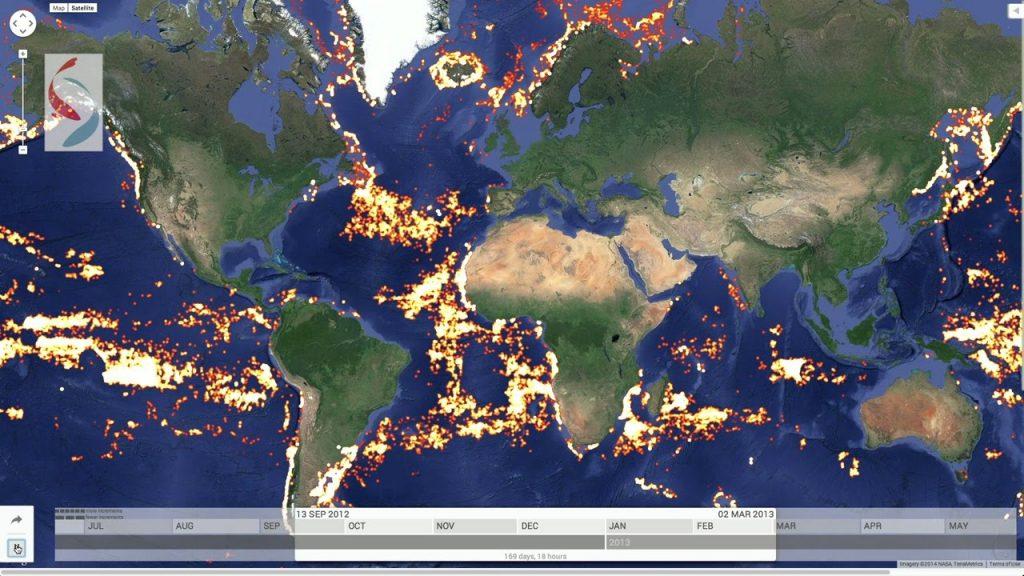 Rybolov poddohľadom mapy