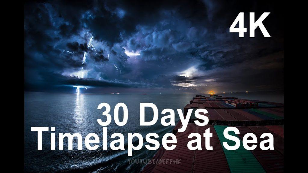 Zažite 30-dňovú plavbu nakontajnerovej lodi včasozbernom videu