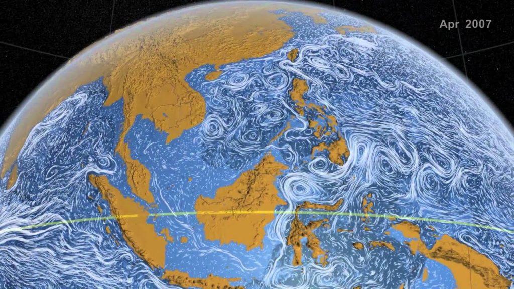 Morské prúdy akoobraz odVan Gogha