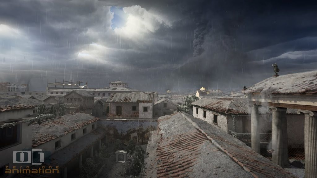 Zánik Pompejí –animácia zvýstavy vMelbourne Museum