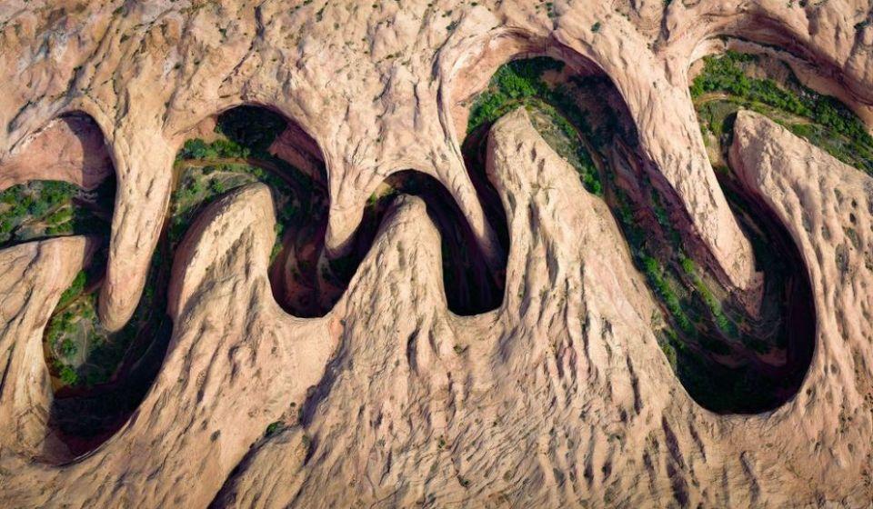 Meandrujúci kaňon vUtahu