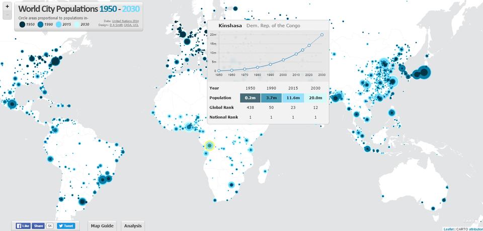 Ako rástla abude rásť populácia svetových metropol (interaktívna mapa)