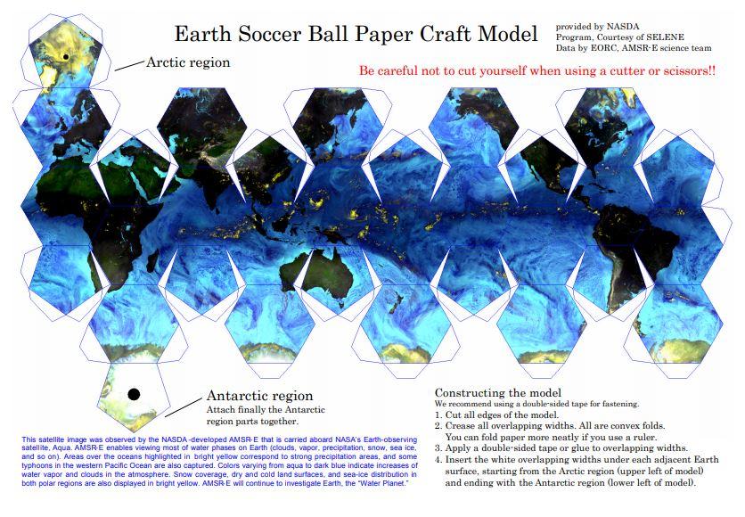 Papierové modely preškolskú geografiu