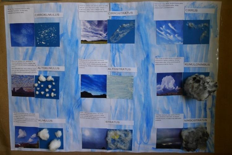 oblaky a mraky školský projekt