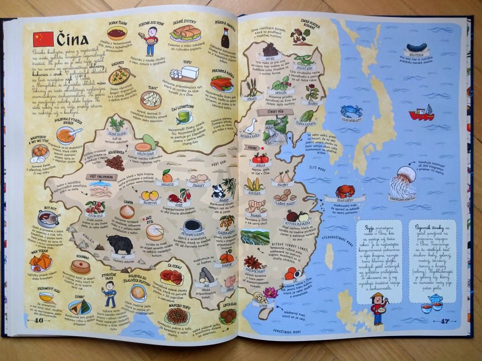 Čína kreslená mapa
