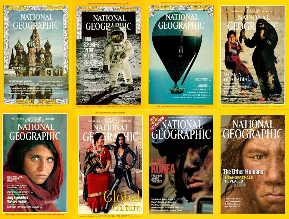 Časopis vžltom rámčeku. Pozrite si všetky titulky National Geographic