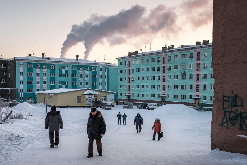 Tma, zima aznečistené ovzdušie. Noriľsk nie je ztohto sveta