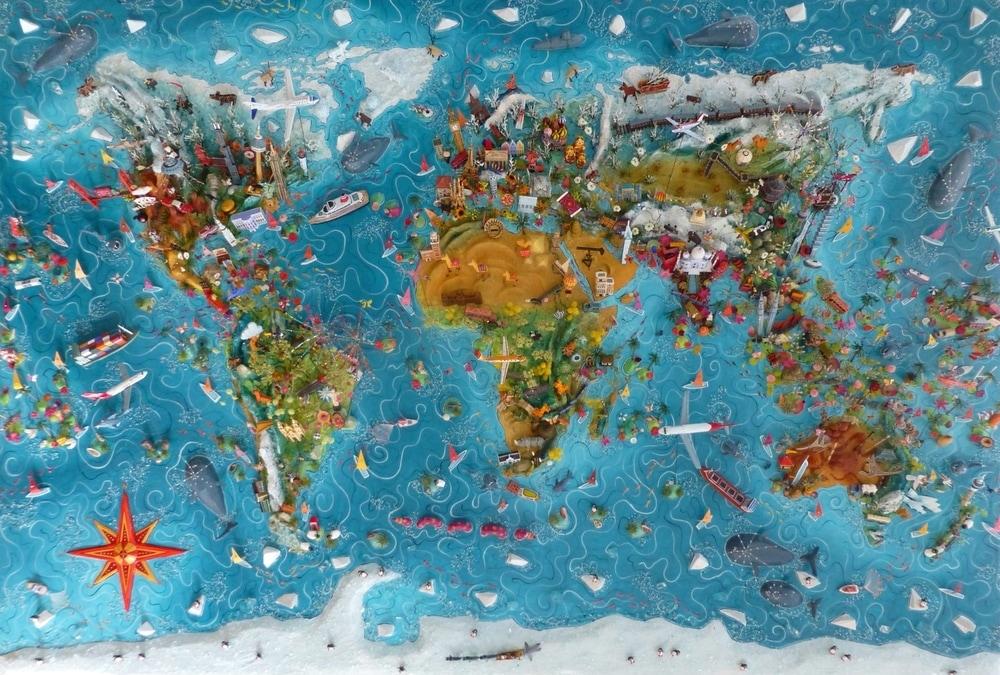 Mapy akoumenie. Sara Drake tvorí mapy, ktoré by ste chceli mať doma