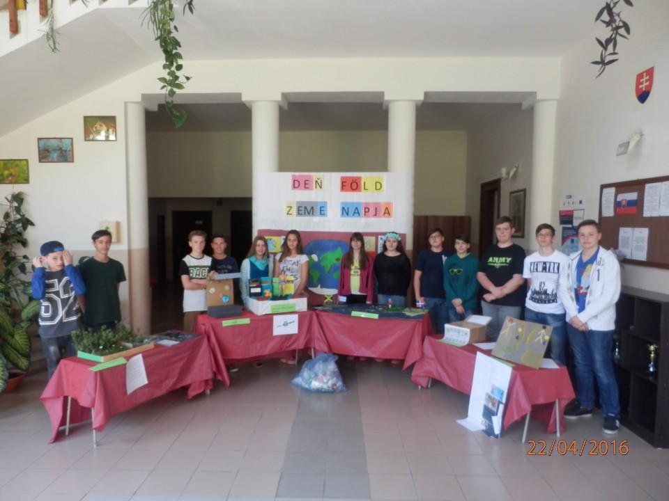 Deň Zeme atvorivosť žiakov naškole vNeninciach