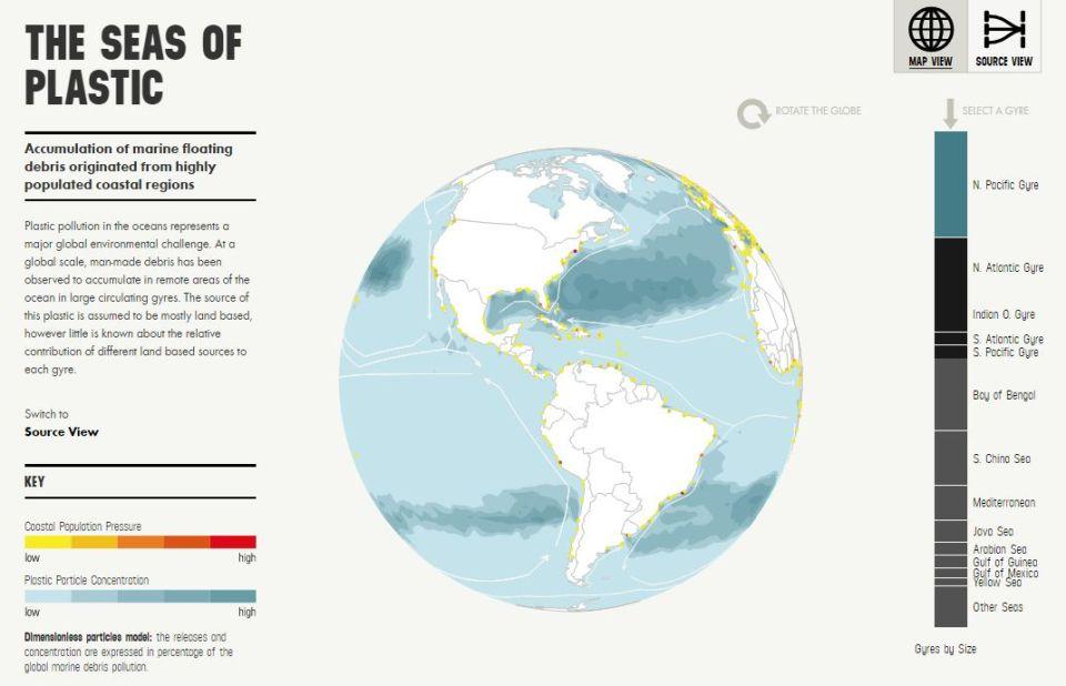 Oceány plastov. Mapa znečistenia, ktoré sa nám vymyká spodkontroly