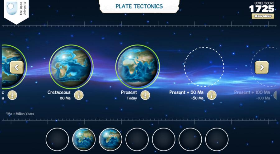 pohyb tektonických dosiek aplikácia