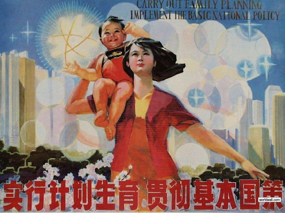 Čínska politika jedného dieťaťa napropagandistických plagátoch