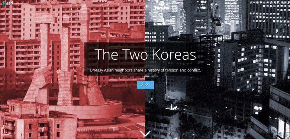 Jeden národ, dva svety. Porovnanie Kóreí vmapovom príbehu