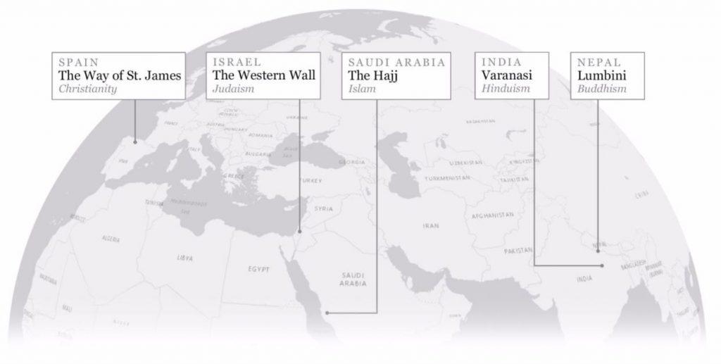 Posvätné miesta sveta (interaktívny mapový príbeh)