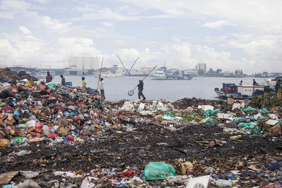Maldivský ostrov odpadu