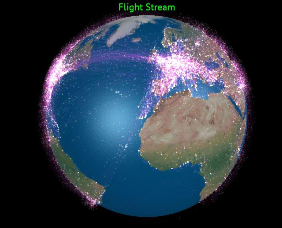 Odkiaľ akam sa lieta? Pozrite si vizualizáciu leteckej dopravy vosvete