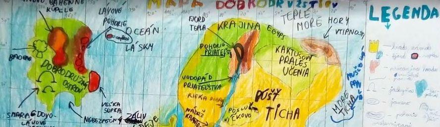 Detské mapy vymyslených svetov (výtvarná aktivita)