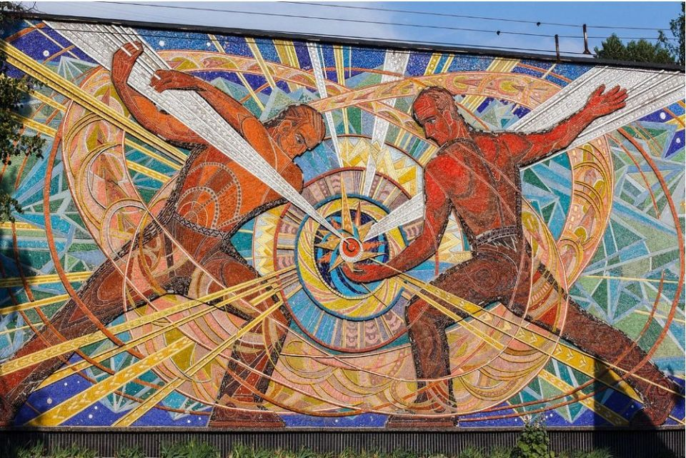 Sovietske monumentálne mozaiky amaľby
