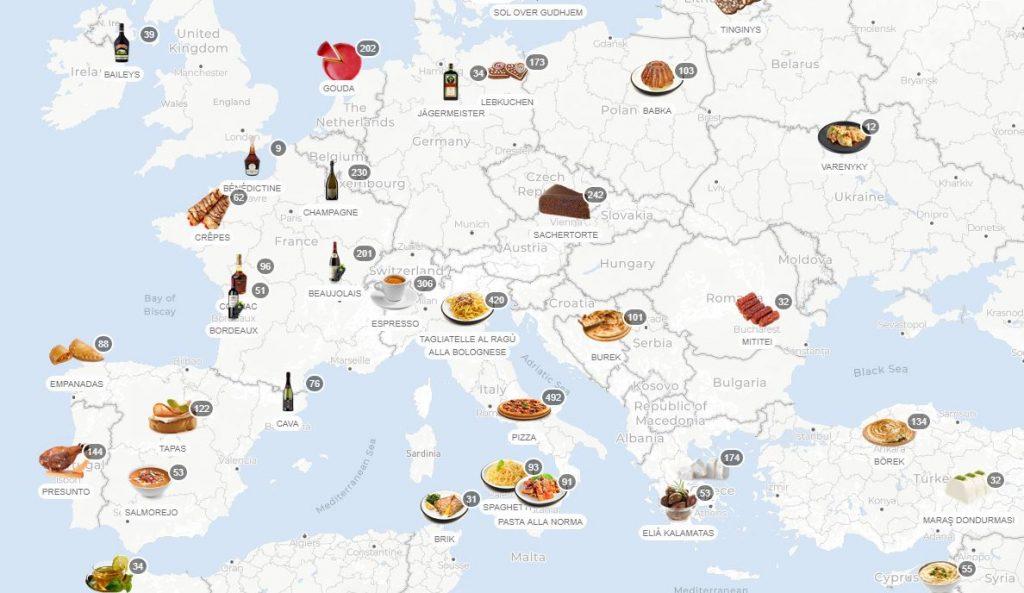 Spoznajte jedlá achute sveta sTaste Atlas