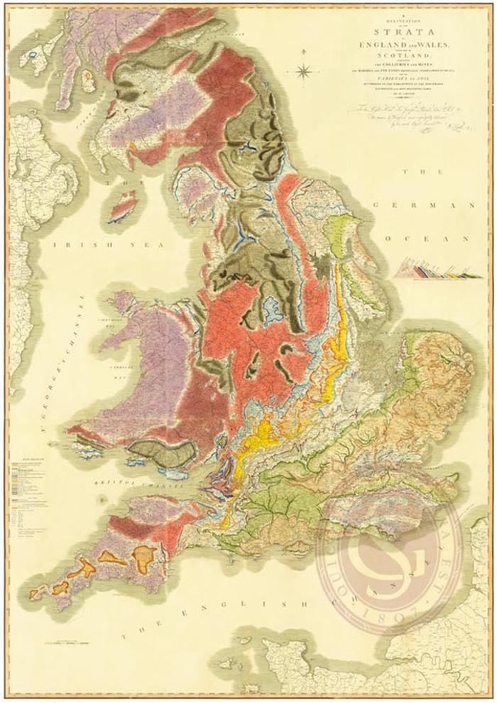 Prvá moderná geologická mapa sa zrodila pred200 rokmi