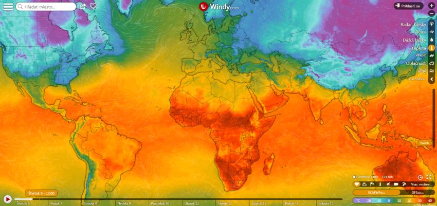 Windy aVentusky. České aplikácie napredpoveď počasia, ktoré dobyli svet