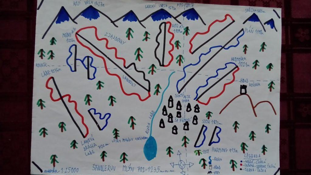 kreslená mapa detská