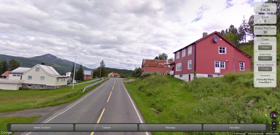 Google Street View hra
