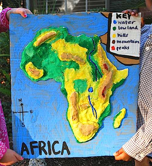 model Afriky škola