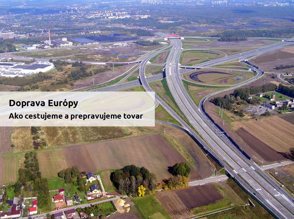 Doprava Európy (prezentácia preinteraktívnu tabuľu)