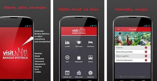 aplikácie cestovného ruchu mestá
