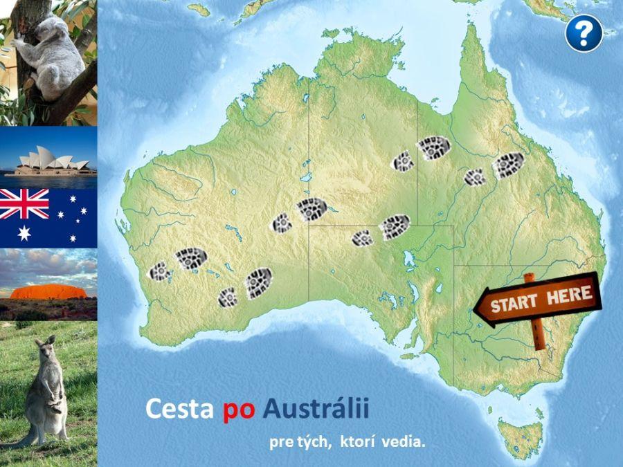 cesta po Austrálii vedomostná hra