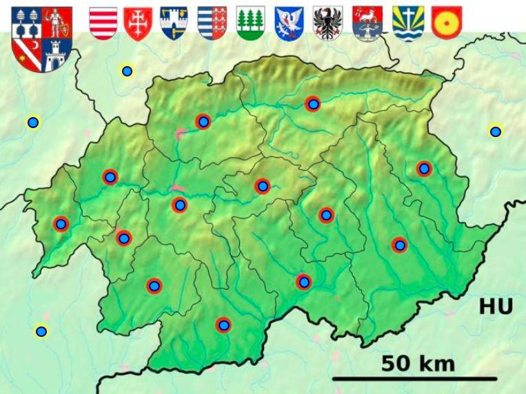 Okresy Banskobystrického kraja (mapová hra)