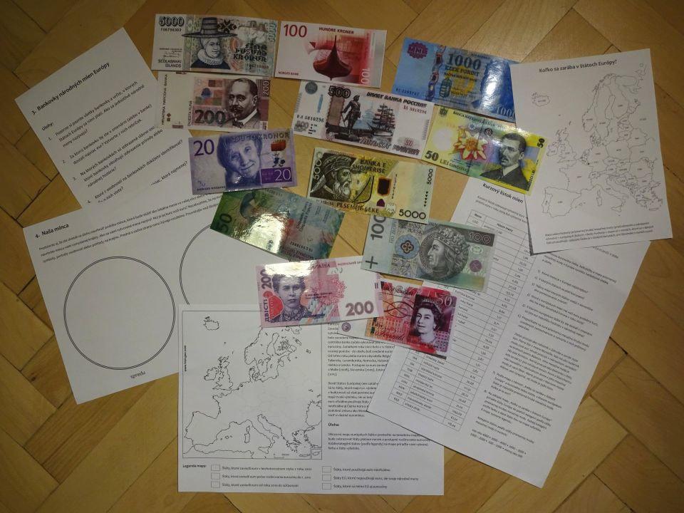 geografia peňazí