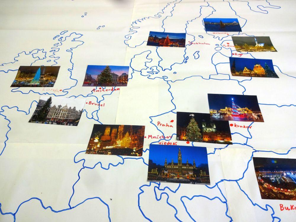 Vianoce vmestách Európy (mapová aktivita)