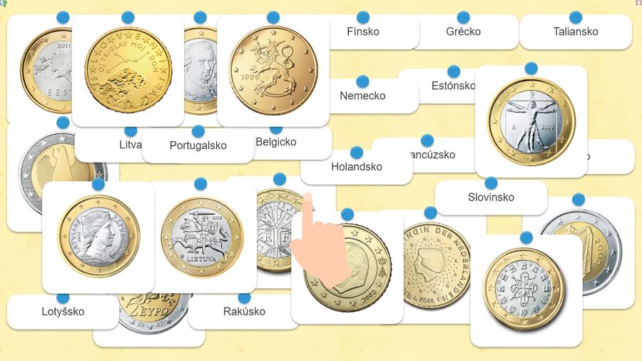 euro mince štáty hra
