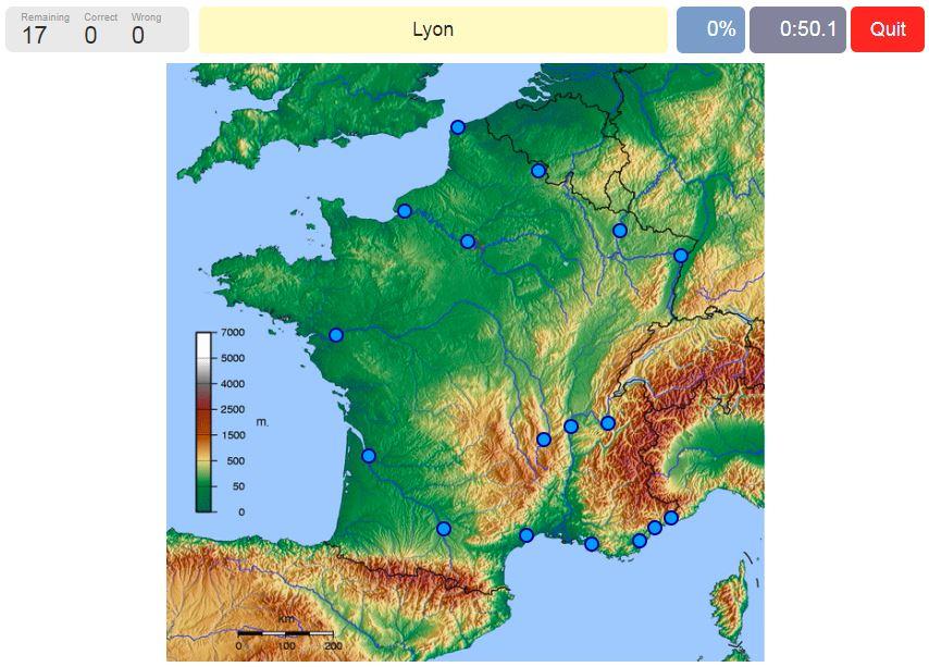 Francúzsko geografická hra