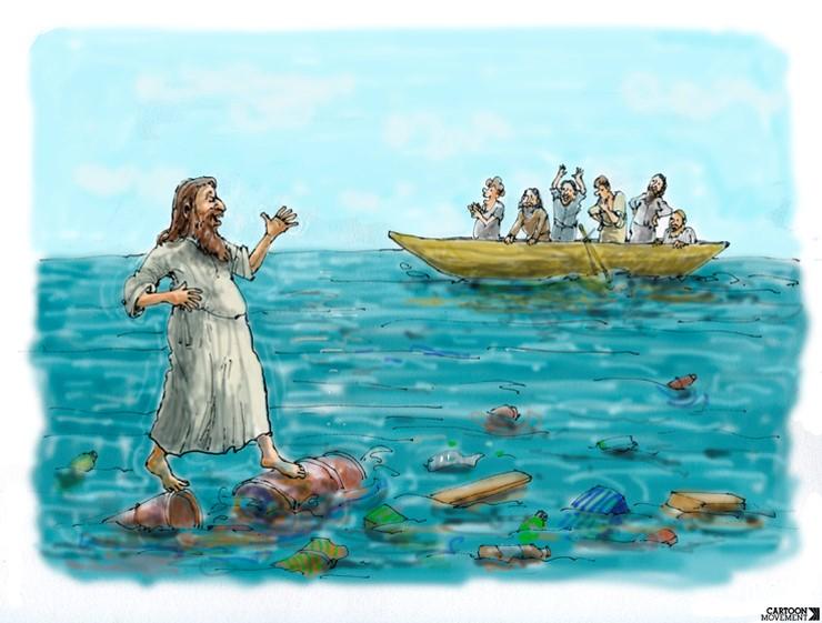 Ježiš chodí po vode