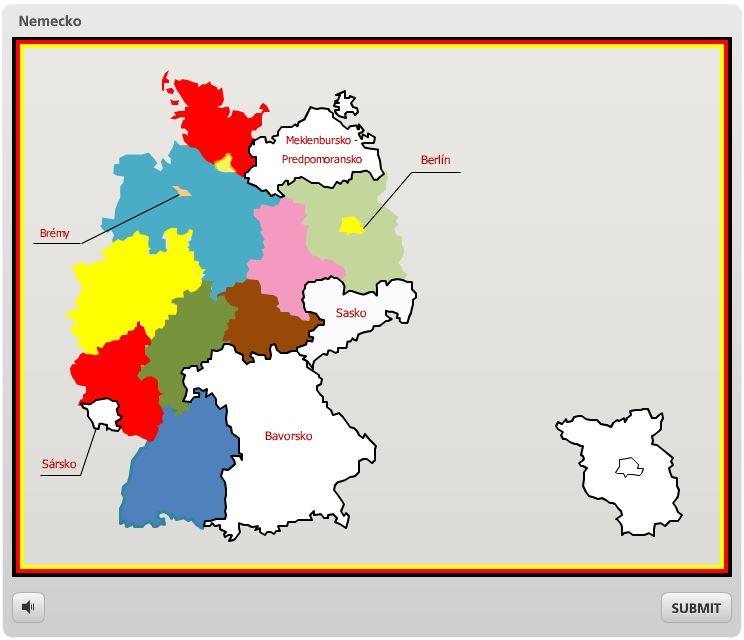 Nemecko geografia hra