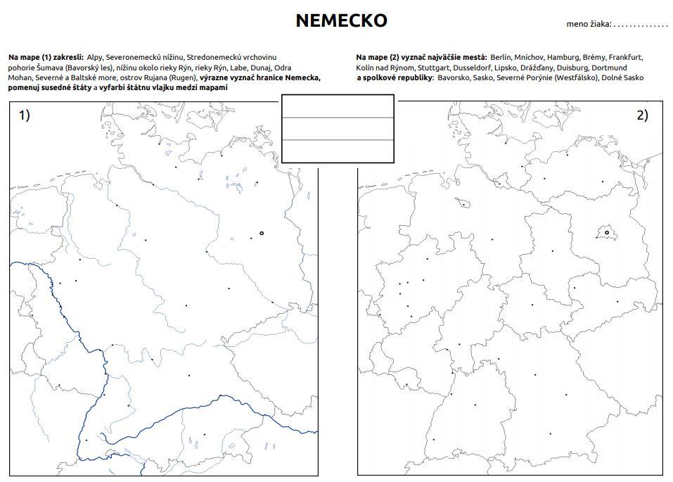 Nemecko mapová karta