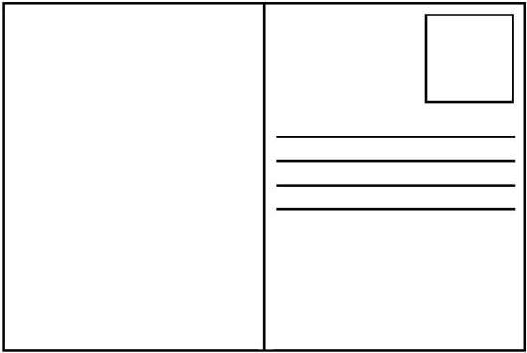 prázdna pohľadnica