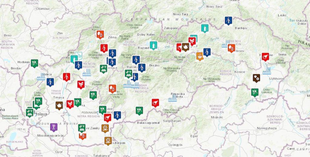 potravinársky priemysel slovensko mapa