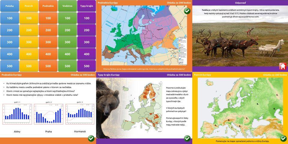 Riskuj! Prírodné pomery Európy