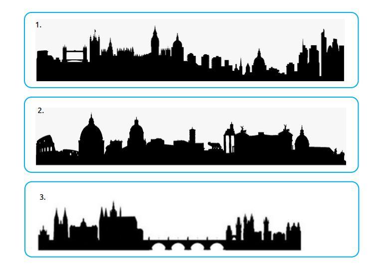 Siluety európskych miest (aktivita)